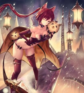 Rating: Safe Score: 35 Tags: animal_ears armor cleavage nekobell pantsu shadowverse shingeki_no_bahamut thighhighs weapon User: RyuZU