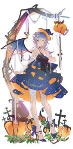 Rating: Safe Score: 16 Tags: bandages dress halloween heels sketch tidsean wings User: BattlequeenYume