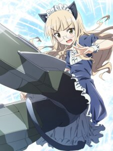 Rating: Safe Score: 15 Tags: animal_ears dress makicha megane nekomimi pantsu pantyhose perrine-h_clostermann strike_witches tail User: Nepcoheart