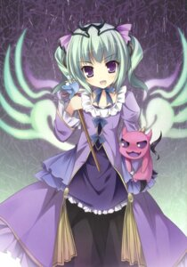 Rating: Questionable Score: 44 Tags: astaroth_(p&d) dress karomix karory puzzle_&_dragons weapon wings User: Twinsenzw