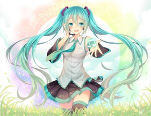 Rating: Safe Score: 22 Tags: hatsune_miku headphones tagme thighhighs vocaloid User: Mr_GT