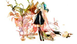 Rating: Safe Score: 28 Tags: dress feet hatsune_miku kagamine_rin moemoe3345 vocaloid User: charunetra