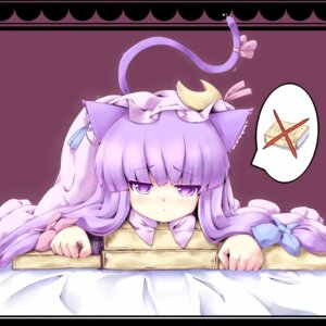 Rating: Safe Score: 32 Tags: animal_ears coo nekomimi patchouli_knowledge tail touhou User: Mr_GT