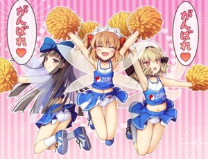 Rating: Questionable Score: 26 Tags: ass cheerleader chima_q luna_child pantsu skirt_lift star_sapphire sunny_milk touhou wings User: Mr_GT