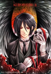 Rating: Safe Score: 8 Tags: kuroshitsuji male sebastian_michaelis signed sukiblog wings User: charunetra