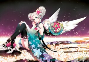 Rating: Questionable Score: 36 Tags: nardack thighhighs wings User: fireattack
