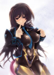 Rating: Questionable Score: 54 Tags: bodysuit erect_nipples miwa_yoshikazu muvluv muvluv_alternative takamura_yui total_eclipse User: demonbane1349