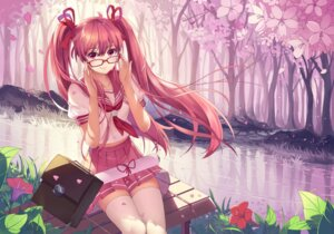 Rating: Safe Score: 50 Tags: baisi_shaonian hatsune_miku megane sakura_miku seifuku thighhighs vocaloid User: Mr_GT