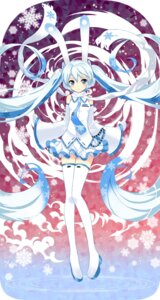 Rating: Safe Score: 53 Tags: achunchun hatsune_miku thighhighs vocaloid yuki_miku User: fairyren