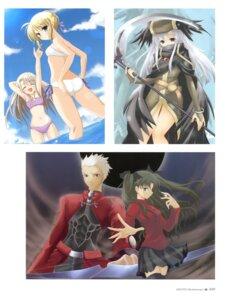 Rating: Safe Score: 18 Tags: archer bikini fate/stay_night hisuitei illyasviel_von_einzbern izumi_tsubasu saber swimsuits thighhighs toosaka_rin User: crim