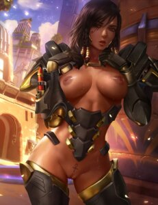 Rating: Explicit Score: 31 Tags: armor bottomless breasts logan_cure nipples no_bra overwatch pharah pussy pussy_juice tattoo thighhighs uncensored User: BattlequeenYume