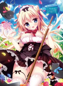 Rating: Questionable Score: 32 Tags: digital_version garter maid neko nopan shiromochi_sakura skirt_lift thighhighs User: Twinsenzw