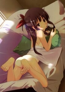 Rating: Questionable Score: 167 Tags: ass feet houmitsu loli naked sheets tan_lines User: fireattack