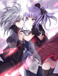 Rating: Safe Score: 23 Tags: bakura_ryou dress maruchi no_bra nosaka_miho thighhighs yugioh User: charunetra