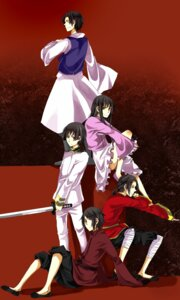 Rating: Safe Score: 5 Tags: china hetalia_axis_powers hong_kong japan korea sumi sword taiwan User: charunetra