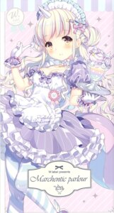 Rating: Questionable Score: 19 Tags: cleavage horns maid pantyhose tagme w.label wasabi_(artist) User: Radioactive