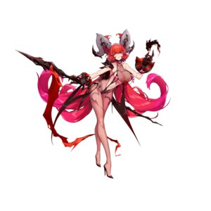 Rating: Questionable Score: 32 Tags: ark_order heels horns pantyhose see_through shanyao_jiang_tororo sling_bikini swimsuits tagme tattoo thighhighs weapon User: Dreista