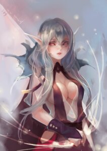 Rating: Questionable Score: 38 Tags: cleavage kamachi_kamachi-ko no_bra open_shirt pixiv_fantasia_t pointy_ears see_through User: charunetra