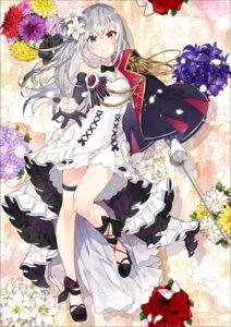 Rating: Safe Score: 38 Tags: cleavage dress garter heels heterochromia shirako_miso sword User: Mr_GT