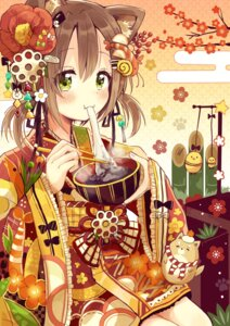 Rating: Safe Score: 28 Tags: animal_ears kimono sakura_oriko User: Mr_GT