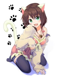 Rating: Safe Score: 66 Tags: animal_ears cleavage kazenoko maekawa_miku nekomimi open_shirt tail the_idolm@ster the_idolm@ster_cinderella_girls thighhighs User: Mr_GT