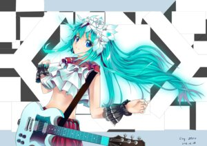 Rating: Safe Score: 30 Tags: guitar hatsune_miku ling_zero signed vocaloid User: mash
