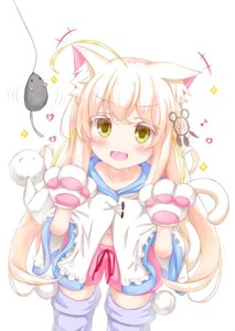 Rating: Safe Score: 4 Tags: animal_ears mafu_makura nekomimi tail User: KazukiNanako