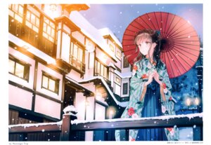 Rating: Questionable Score: 86 Tags: hiten hitenkei umbrella yukata User: Nepcoheart
