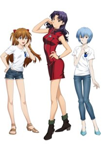 Rating: Safe Score: 35 Tags: ayanami_rei dress heels katsuragi_misato neon_genesis_evangelion souryuu_asuka_langley User: Vito