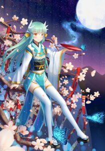 Rating: Safe Score: 35 Tags: fate/grand_order horns japanese_clothes ji_dao_ji kiyohime_(fate/grand_order) thighhighs User: charunetra