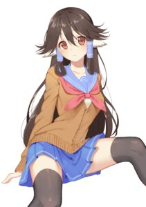 Rating: Safe Score: 36 Tags: animal_ears aruruu icarus_(artist) seifuku sweater thighhighs utawarerumono utawarerumono_itsuwari_no_kamen User: Mr_GT