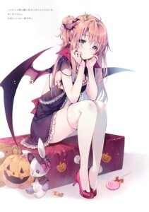 Rating: Questionable Score: 79 Tags: dress halloween heels miwabe_sakura pion pointy_ears tagme thighhighs wings User: Radioactive