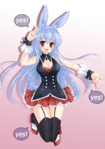Rating: Safe Score: 22 Tags: animal_ears bunny_ears cleavage kurousagi_(mondaiji_tachi_ga_isekai_kara_kuru_sou_desu_yo?) mondaiji_tachi_ga_isekai_kara_kuru_sou_desu_yo? stockings thighhighs tsukiyalu User: gnarf1975