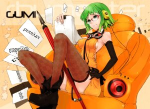 Rating: Safe Score: 21 Tags: gumi headphones megane mille thighhighs vocaloid User: Yuffie