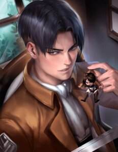 Rating: Safe Score: 12 Tags: chibi eren_jaeger levi male sakimichan shingeki_no_kyojin sword User: tapoutlacie