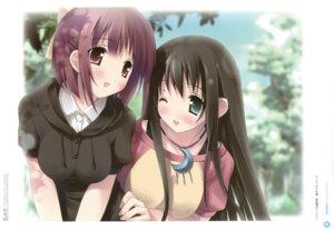 Rating: Questionable Score: 16 Tags: amesarasa chiyokawa_rin kantoku sanbongi_yuki User: Twinsenzw