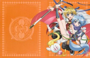 Rating: Safe Score: 22 Tags: animal_ears dog_days dress no_bra sharu_(dog_days) shinku_izumi weapon User: Anonymous