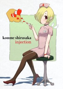 Rating: Safe Score: 11 Tags: heels nurse pantyhose shirasaka_koume the_idolm@ster the_idolm@ster_cinderella_girls uneg wings User: Mr_GT