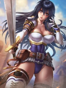 Rating: Safe Score: 21 Tags: armor ayra_(fire_emblem) cleavage fire_emblem fire_emblem_genealogy_of_the_holy_war fire_emblem_heroes leotard speh sword thighhighs User: mash