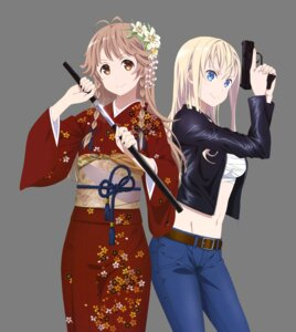 Rating: Safe Score: 26 Tags: gun high_school_fleet kimono nakamura_naoto nosa_kouko open_shirt sarashi sword transparent_png wilhelmina_braunschweig_ingenohl_friedeburg User: Mekdra