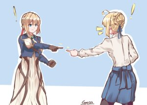 Rating: Safe Score: 30 Tags: crossover dress fate/stay_night saber tagme violet_evergarden violet_evergarden_(character) User: kiyoe