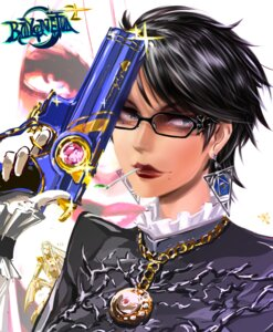 Rating: Safe Score: 11 Tags: bayonetta_(character) bayonetta_2 bodysuit gun megane vorpal-duck User: blooregardo