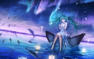 Rating: Questionable Score: 35 Tags: dress hatsune_miku landscape sombernight vocaloid wet User: gnarf1975