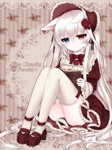 Rating: Safe Score: 53 Tags: alice_claudia animal_ears heterochromia stockings thighhighs tsukikage_nemu User: Velociraptor