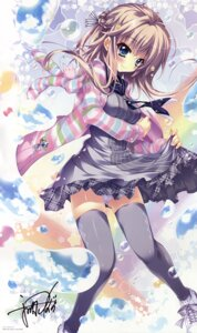 Rating: Safe Score: 94 Tags: autographed izumi_tsubasu pantsu seifuku skirt_lift thighhighs User: DDD