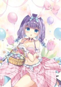 Rating: Safe Score: 64 Tags: animal_ears bunny_ears cleavage saeki_sola skirt_lift tail User: 蕾咪