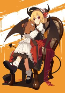 Rating: Safe Score: 31 Tags: horns rumia sh tail touhou wings User: Mr_GT