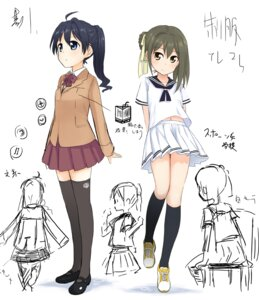 Rating: Safe Score: 19 Tags: abe_kanari seifuku sketch thighhighs User: Radioactive