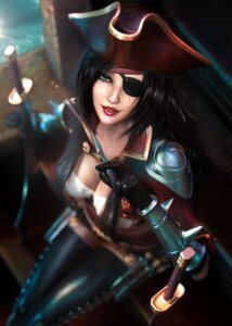 Rating: Questionable Score: 14 Tags: armor cleavage katarina_du_couteau league_of_legends pirate sevenbees sword thighhighs weapon User: Darkthought75