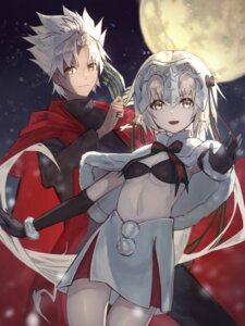 Rating: Questionable Score: 15 Tags: aito bra christmas cleavage fate/grand_order jeanne_d'arc_alter_santa_lily shirou_kotomine_(fate/apocrypha) underboob User: yanis